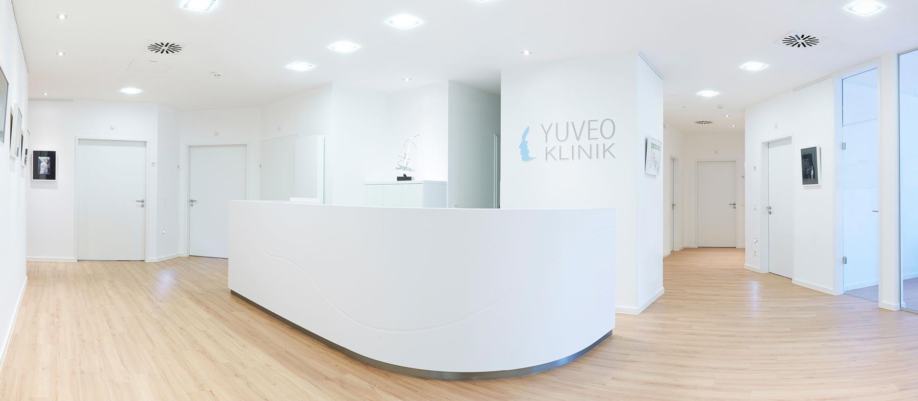 Empfang in der Yuveo Klinik Düsseldorf